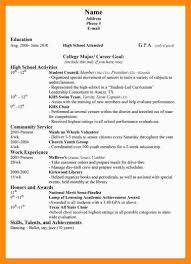 13 Student Resume Examples High by 13 Sample High Resumes Dtn Info