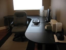 ikea adjustable height desk furniture interesting black ikea galant desk with white baseboard