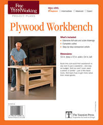 Fine Woodworking Bench Shop Project Plans