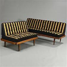 Beech Ottoman A Beech Wood Daybed And Ottoman By Orla Mølgaard Nielsen And