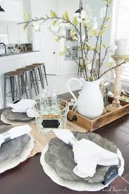 dining room table settings dining room update a coastal farmhouse table setting table and hearth