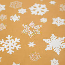 brown gift wrapping paper snowflakes brown christmas wrapping paper set by