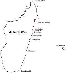carte monde noir et blanc reconnaissance des côtes de madagascar par le chevalier grenier