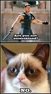 No Grumpy Cat Meme - are you not entertained no grumpy cat meme photo golfian com