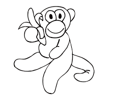 printable monkey coloring pages printable monkey with a banana coloring page from freshcoloring com