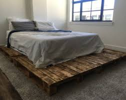 How To Build A Platform Bed With Pallets by Pallet Furniture Etsy