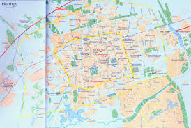 Maps Of China by Detailed Hohhot Map Map Of China Hohhot