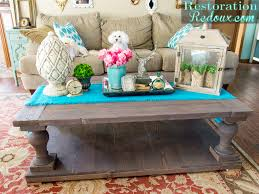 Restoration Hardware Trestle Table Knock Off by Rh Coffee Table Diy Home Table Decoration