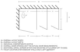 Urinal Partition Toilet Partition Measurments