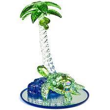 glass sculpture palm tree w honu turtle