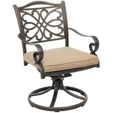 Patio Swivel Chair Barnwood 59