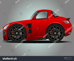 cartoon sports car vector modern cartoon car sports car stock vector 264257420