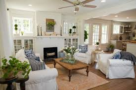 Fixer Upper Living Room Get The Look Joanna Gaines Hgtv And - Bungalow living room design