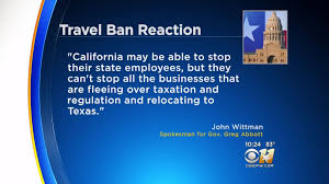 california blue california has a travel ban 8 states including are now
