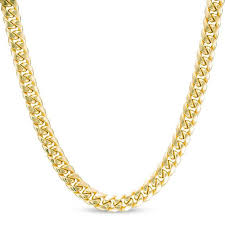 cuban chain necklace gold images Men 39 s 7 5mm cuban chain necklace in 10k gold 22 quot gold jpg