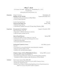 Resume For Receptionist Examples Resume For Salon Receptionist Examples