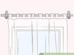 Command Hook Curtains How To Hang Curtains With Command Hooks With Pictures Wikihow