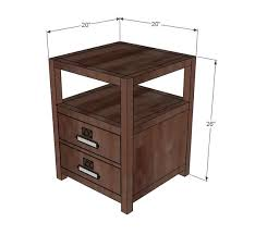 ana white build a rhyan end table free and easy diy project