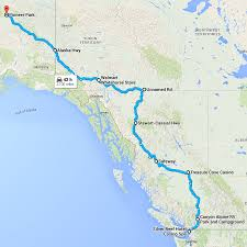 Gulf Of Alaska Map by North To Alaska The Road Trip Of A Lifetime Ardent Camper