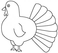 simple turkey drawing turkey side coloring page thanksgiving