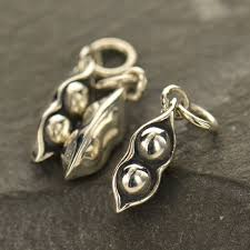 two peas in a pod charm sterling silver two peas in a pod charm food charm designs