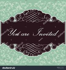 Background Of Invitation Card Invitation Background Invitation Card Design Scrolls Stock Vector