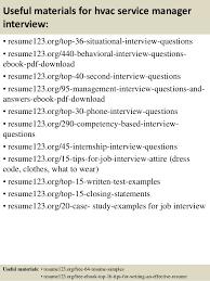 Hvac Resume Top 8 Hvac Service Manager Resume Samples