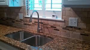 custom tile backsplash with glass strips grace construction inc