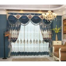 Valance Curtains For Living Room White And Blue Botanical Print Burlap Country Curtains For Living Room