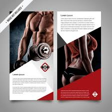 fitness flyer template fitness brochure template vector free