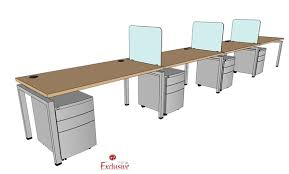 60 Office Desk The Office Leader Peblo 4 Person 30 X 60 Bench Seating Office
