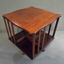 Revolving Bookcase Table Walnut Revolving Bookcase Travers Antiques