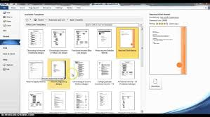 resume format in ms word 2007 using microsoft word resume templates youtube