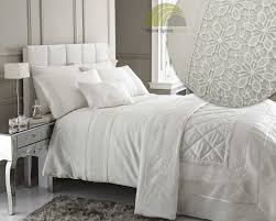 ivory cream luxury super king duvet cover bedding bed set with
