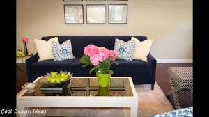 Living Rooms With Blue Couches by Living Room Ideas With Navy Blue Sofa Youtube