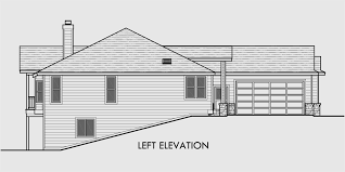 house plans with daylight basement one story house plans daylight basement house plans side garage