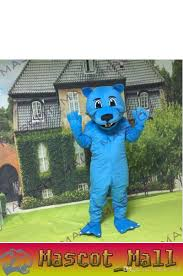 mall154 custom animal blue panther mascot costume cartoon