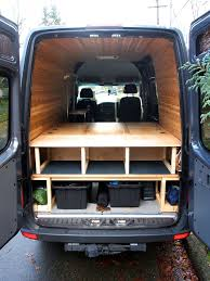 bed table and benches for camper van all in one van ideas
