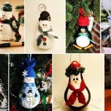 wonderful diy light bulb penguin ornaments