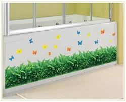 green grass wall border decal sticker kitchen wash room living