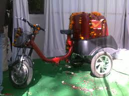postal vehicles kinetic soleckshaw postal vehicle project kickstarted in ajmer