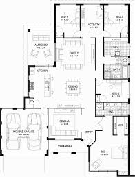 four bedroom floor plans 4 bedroom floor plans shiny house plans e level unique floor plan