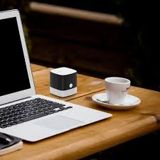 Laptop Desk With Speakers by Marsboy Portable Bluetooth Speakers Pocket Size Cube Speakers