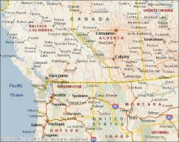 detailed map of usa and canada map of west canada major tourist attractions maps