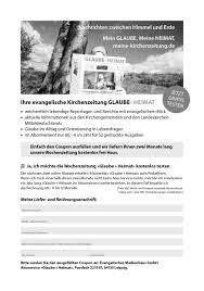 Haus Anzeige Gemeindebriefmaterial Glaube Heimat