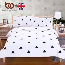 triangle bedding beddingoutlet black triangle bedding set simple style bed cover