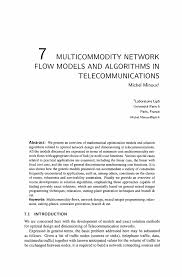 multicommodity network flow models and algorithms in