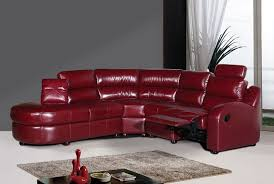 red leather contemporary reclining sofa elegant quality