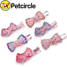 different types of hair bows 5 pcs lot freeshipping pet dog hair 4 types dog hair bows