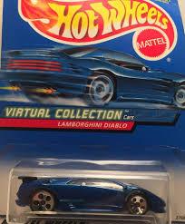car toy blue lamborghini diablo wheels virtual collection mattel die cast